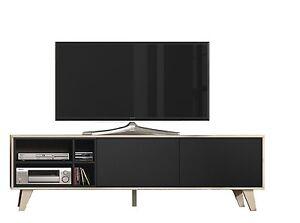 Mueble-de-comedor-salon-TV-Roble-y-Gris-Oscuro