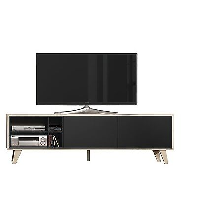 Mueble de comedor salon TV  Roble y Gris Oscuro