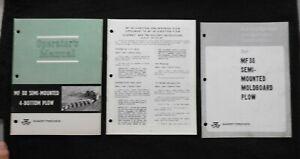1967-Massey-Ferguson-Mf-88-Semi-Mounted-4-6-Bas-Charrue-Operateurs-Assemblage