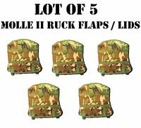 Lot Of 5 Molle Ii Panel Large Ruck Flap Map Pocket Admin General Pouch Woodland
