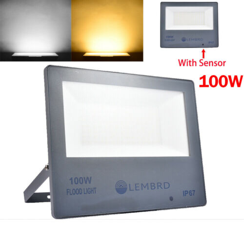 300W 200W 100W 50W LED Flood Light PIR Motion Sensor Outdoor Security Spot Lamp