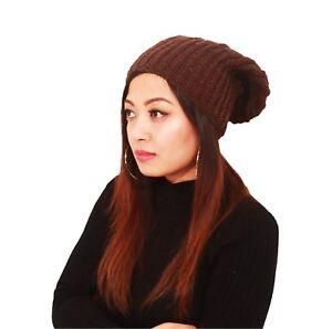 Hat Hand Knitted New style Latest Woolen cap Long Warm 100%wool ... 669fbf0b265