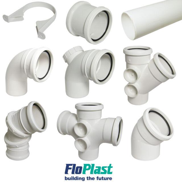 FLOPLAST 110mm soil pipe clip black