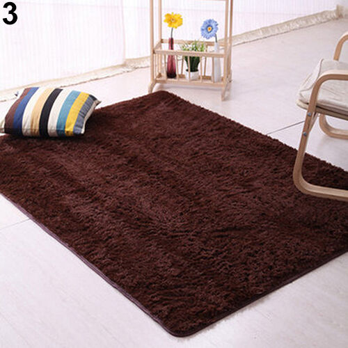 PLUSH SHAGGY SOFT CARPET RUG BEDROOM SLIP RESISTANT FLOOR MAT SANWOOD POSH