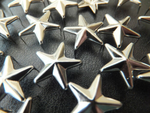 goth punk emo craft Star or Triangle Silver Stud packs of 10,20,30,50 or 100