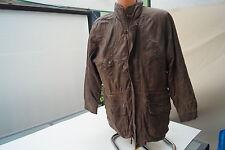 TRAPPER Herren Leder Winter Jacke Steppjacke Mantel Gr.52 XXL vintage braun #k