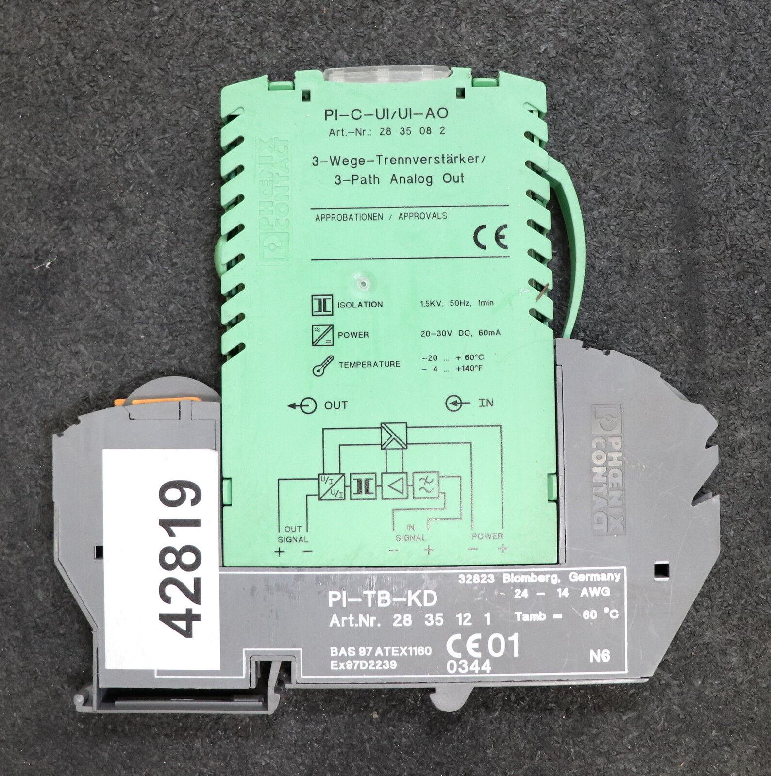 PHOENIX CONTACT 3-Wege-Trennverstärker 3-path analog out PI-C-UI UI-AO