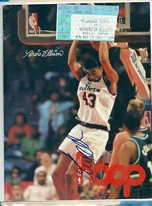 Pervis Ellison Autograph Signed Hoop Magazine Cover Only Bullets w/Ticket Stub