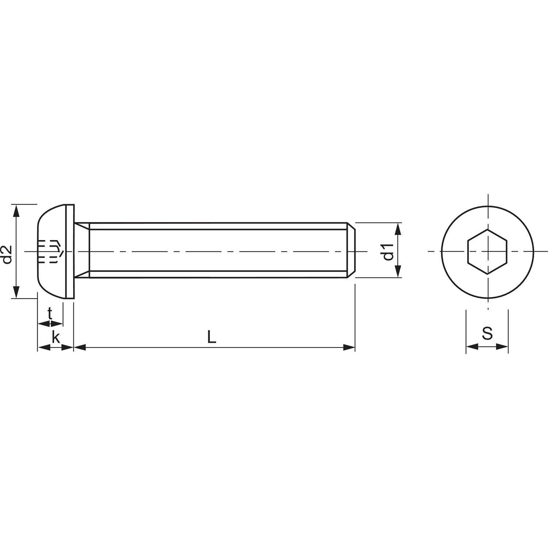 ISO7380-1 M10x 40 Edelstahl Edelstahl Edelstahl A2 Linsenschraube mit Innensechskant   Kunde zuerst  7853ee