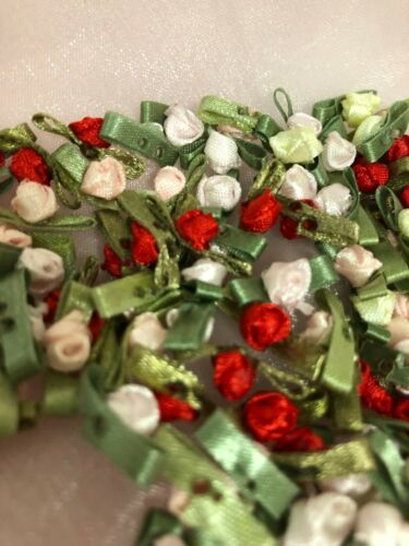 """100 Satin Rose Bud Flower 1//4/"""" Applique Sewing Bow Craft Mix Color 1224-2"""