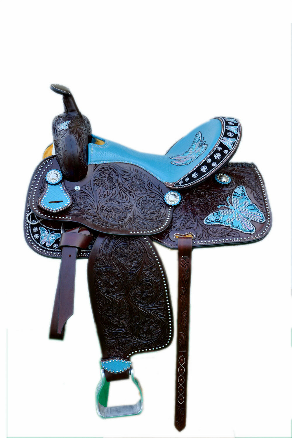 Western Brown Leather  Hand Carved Barrel Racer Saddle 15    1024  for your style of play at the cheapest prices