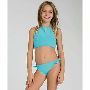 8503ba081f358 Image is loading BILLABONG-GIRLS-SOL-SEARCHER-HALTER-TWO-PIECE-SWIMSUIT-