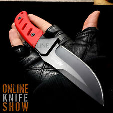 """9"""" RED TACTICAL SURVIVAL Full Tang FIXED BLADE KNIFE Military Hunting + SHEATH"""