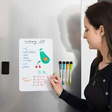 Small Magnetic Dry Erase Board For Fridge 12x8 Inch Office Products