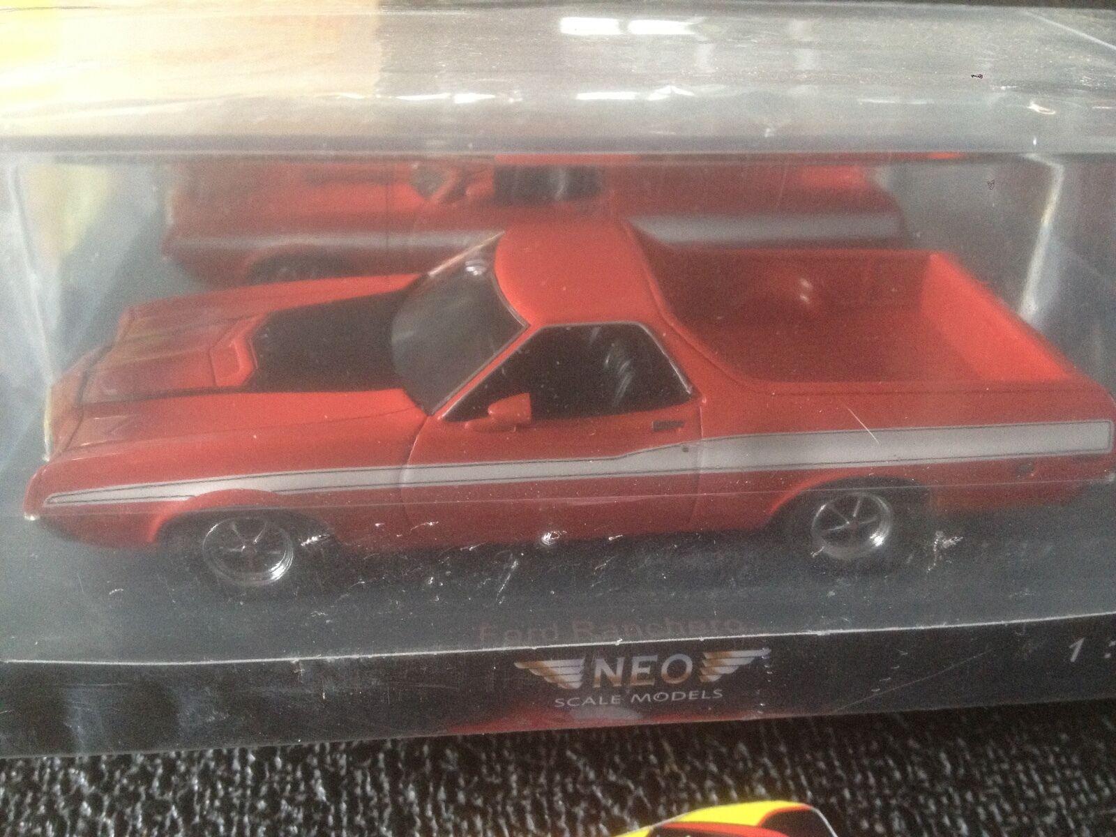 NEO 44855 FORD RANCHERO GT rojo negro WEISS 1 43 RESIN MODELCoche NEW SEALED BOX