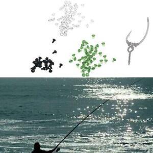 50pcs-Hook-Stops-Rubber-Shank-Beads-Carp-Fishing-Terminal-Rig-Fast-Tackle-B-C6L9