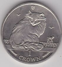 1995 ISLE OF MAN TURKISH CAT BASE METAL CROWN IN NEAR MINT CONDITION