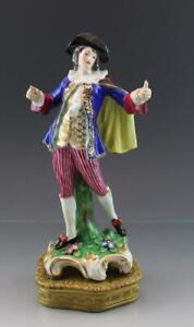 C1890-German-Dresden-Porcelain-Figurine-of-Gentleman-Gilt-Brass-Mounted