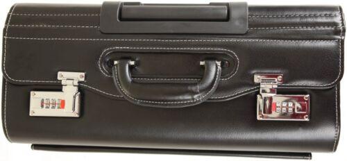 New Faux HQ Leather Pilot Case Business Laptop Flight Briefcase Trolley Case