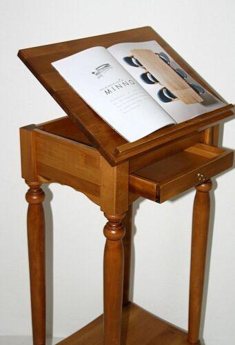 Massivholz Stehpult honigfarben Rednerpult Hoch-tisch Lesepult holz Schreib pult