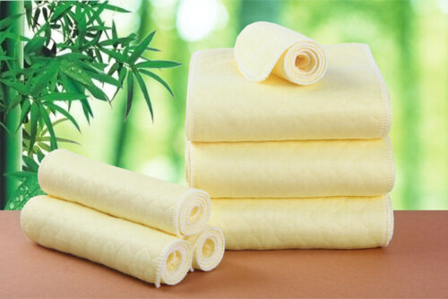Natural Reusable Soft Baby Cloth Diaper Nappy Liners insert Cotton 3//6//9 Layers
