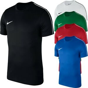 Nike-Mens-T-Shirt-Dry-Park-18-Football-Jersey-Training-Top-Gym-Jogging-Sports