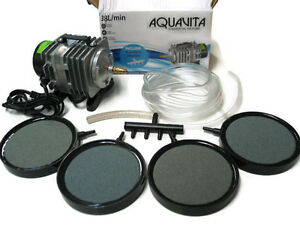 500-Gal-Commercial-Aquarium-Air-Pump-Air-Stones-20ft-Tubing-Combo
