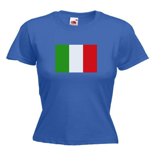 Italy Italian Flag Ladies Womens Lady Fit T Shirt