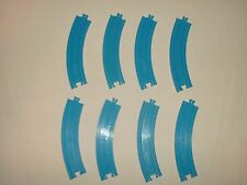Tomy Plarail Thomas the Train Lot of 8 Pieces Curved Blue Track Curves