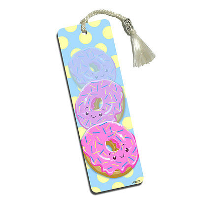 Cute Donut Printed Bookmark with Tassel