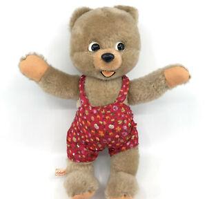 Schuco-Baby-Urso-Teddy-Bear-Mohair-Plush-26cm-10in-Label-Bigo-Bello-1967-Vtg