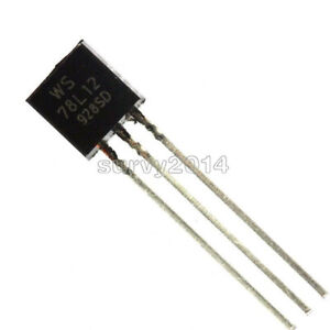 20PCS WS78L12 78L12 TO-92 12V 100mA Voltage Regulator IC NEW