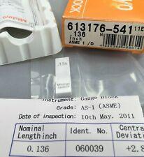 Mitutoyo 613176 Cera Ceramic Gage Block 0136 Asme 1 Withcertificatemachinist