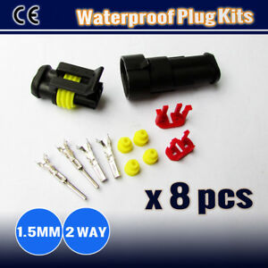 8x-Kits-1-5MM-2-WAY-Waterproof-Auto-Marine-Electrical-Sealed-Wire-Connector-Plug