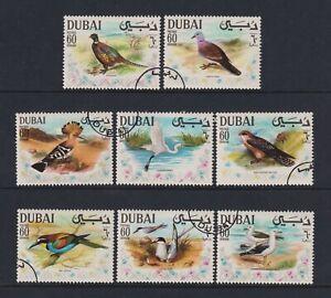 Dubai - 1968, Arabe Gulf Oiseaux Ensemble - F/U - Sg 310/17 (Un)