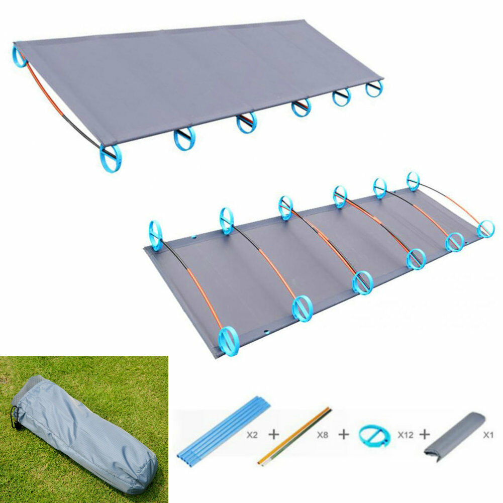 Portable  Folding Ultralight Bed Aluminium Alloy Cots Camping Tent Bed Outdoor  discount low price