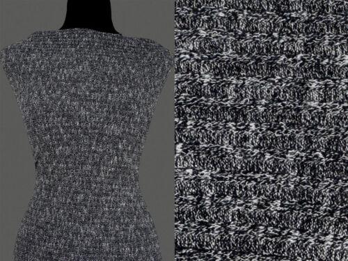 50cm STOFF STRICKSTOFF ELASTISCH Grau Melange Muster 13,80 €//m VISKOSE