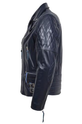 Italiaanse lederen blauwe jas heren motorfiets Desperado marine premium biker echte qpwfF7