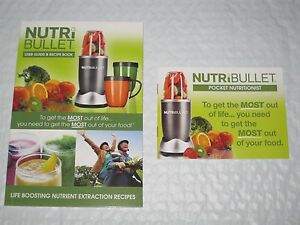 nutribullet user guide recipe book pocket nutritionist book rh ebay com NutriBullet Superfood Ninja Bullet
