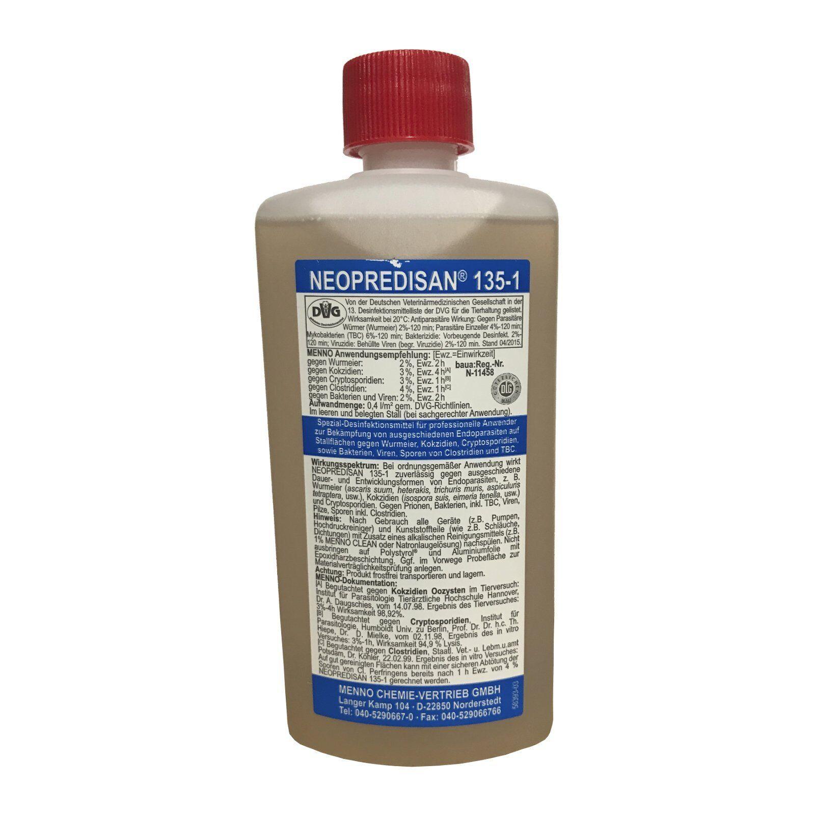 Neopredisan 135-1-500ml - Desinfectante Limpiador Gérmenes Parásitos Virus