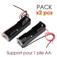 PACK x2 PCS Boitier Bloc Support pour Pile AA 1.5V LR6 Battery Holder Case DIY