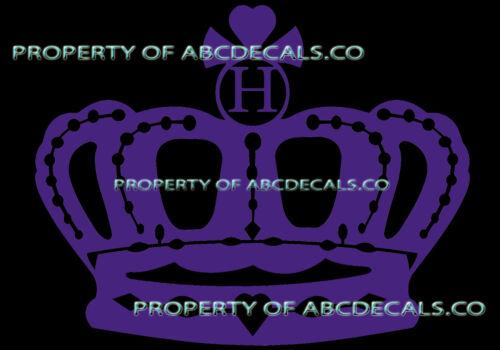 VRS Crown Queen King Princess TWILIGHT INITIAL S Car Decal Vinyl Wall Sticker