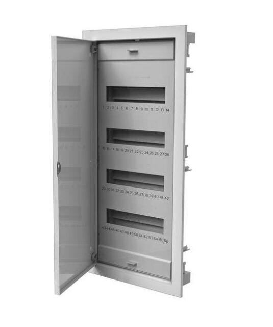 Verteilerkasten  48 + 8 Module Unterputz UP Sicherungskasten Pawbol Metal Tür