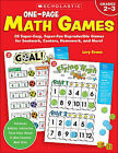 One-Page Math Games by Lory Evans (Paperback / softback)