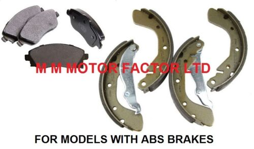 1.4 /& 1.7 Front Brake Pads /& Rear Brake Shoes ABS 1.2 Vauxhall Corsa C 00-1.0