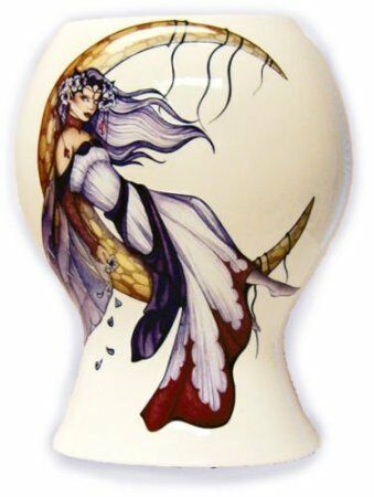 Sale 60/% Off Retired Fairy Moon Dreaming Porcelain Vase Large Jessicia Galbreth