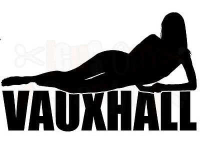 LARGE vauxhall car bonnet sticker corsa astra opel sexy girl car logo vinyl fun