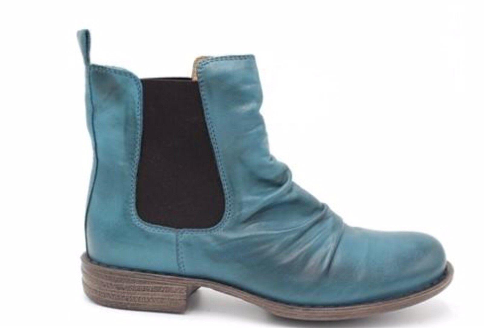 Miz Mooz Lissie, Chelsea Chelsea Chelsea Style Boots, Marine Light bluee Leather, Brand New, 6 f4c5ae