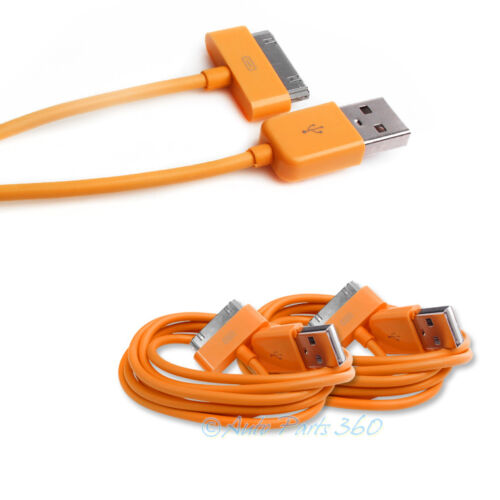 2 6FT USB SYNC DATA POWER CHARGER ORANGE CABLE IPHONE 4S IPOD TOUCH CLASSIC IPAD