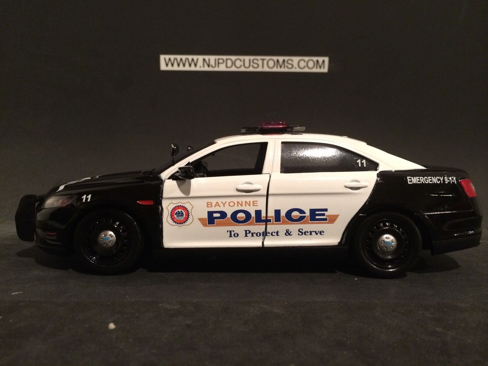 Bayonne Police NJ 1 24 Scale Replica Ford Interceptor Taurus Police Cruiser